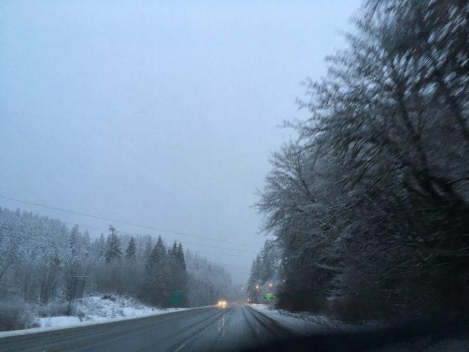 Fahrt nach Whistler im Schneechaos