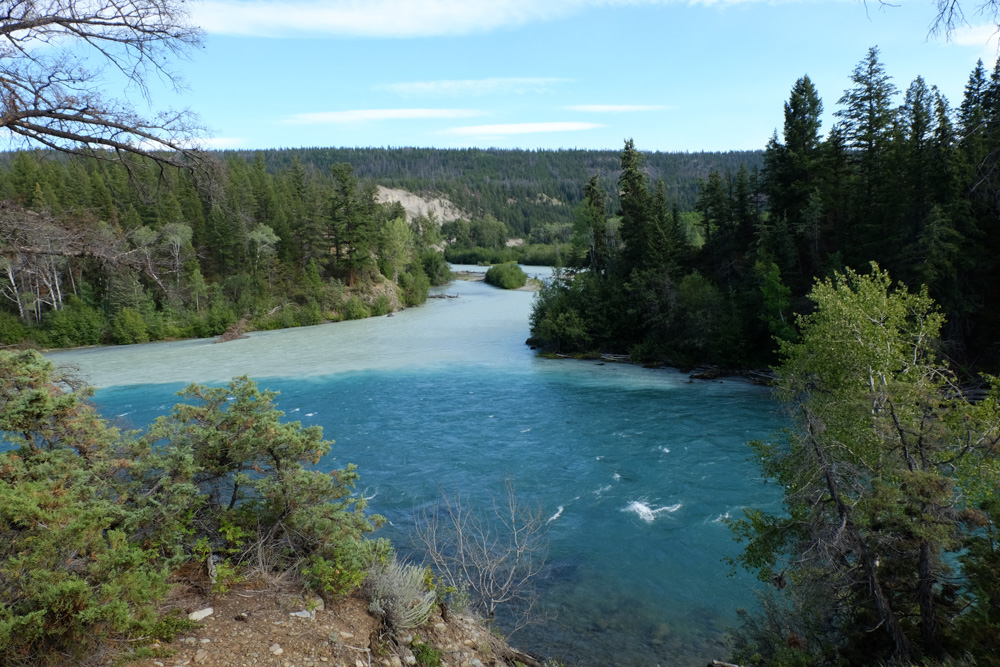 Zweifarbiger Fluss